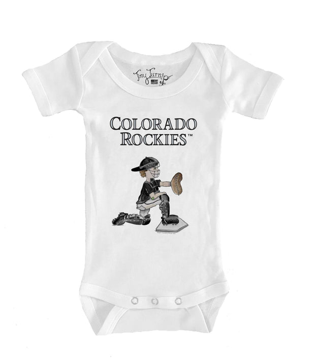 Colorado Rockies Infant Caleb the Catcher Short Sleeve Snapper