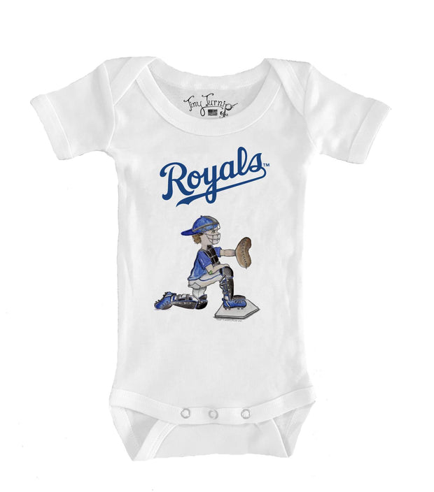 Kansas City Royals Infant Caleb the Catcher Short Sleeve Snapper