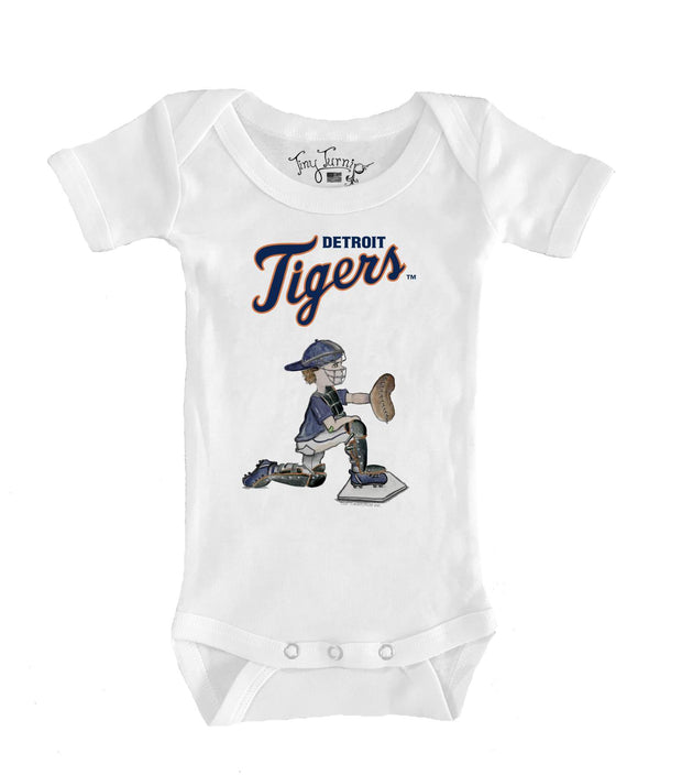 Detroit Tigers Infant Caleb the Catcher Short Sleeve Snapper