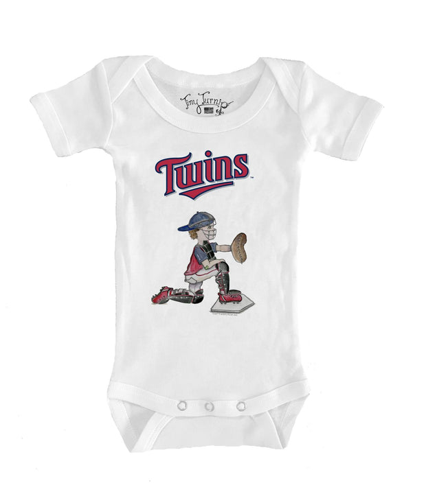 Minnesota Twins Infant Caleb the Catcher Short Sleeve Snapper