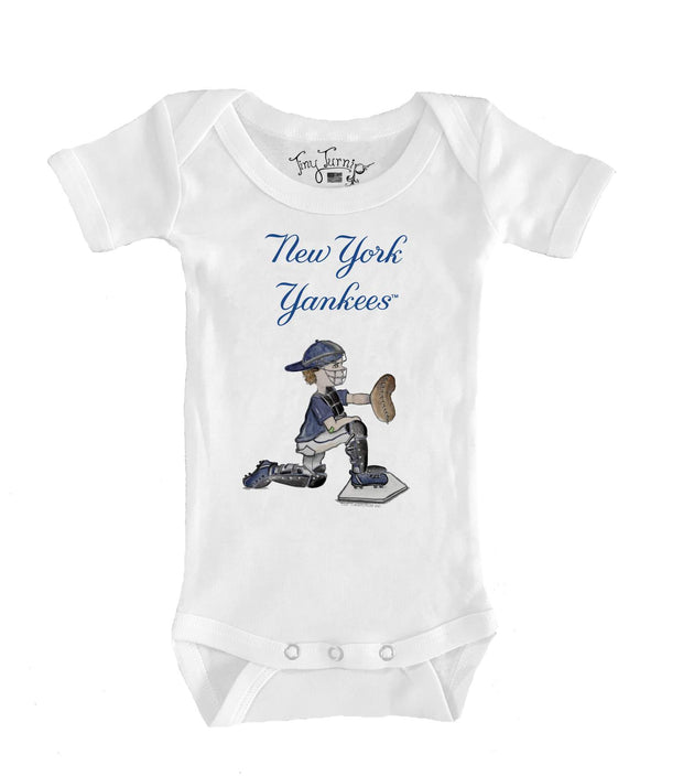 New York Yankees Infant Caleb the Catcher Short Sleeve Snapper