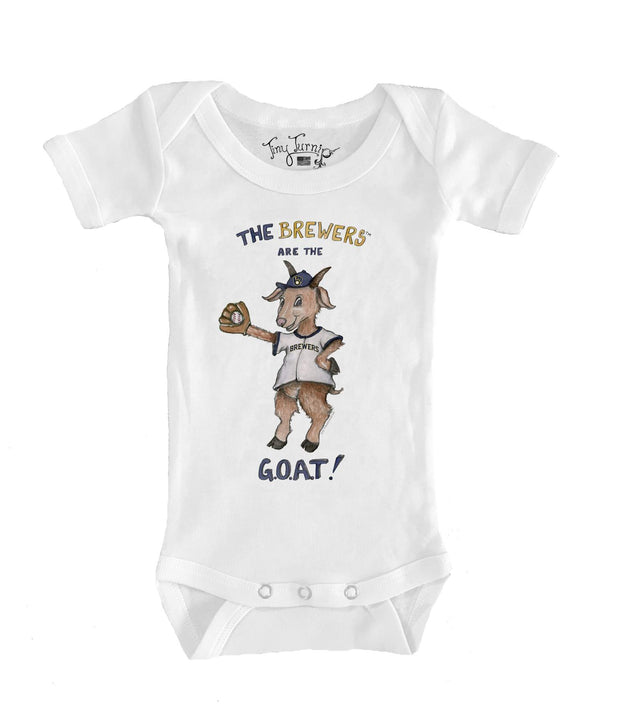 Milwaukee Brewers Infant G.O.A.T! Short Sleeve Snapper