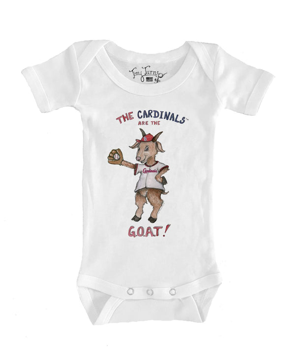 St. Louis Cardinals Infant G.O.A.T! Short Sleeve Snapper