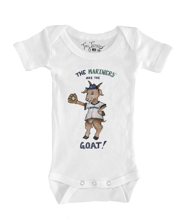 Seattle Mariners Infant G.O.A.T! Short Sleeve Snapper