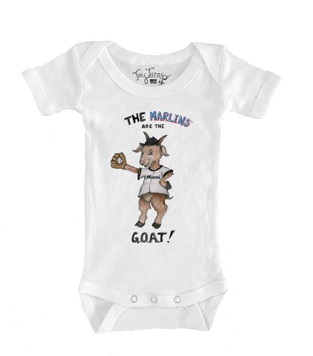 Miami Marlins Infant G.O.A.T! Short Sleeve Snapper