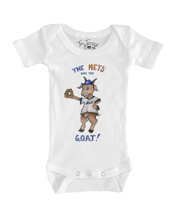 New York Mets Infant G.O.A.T! Short Sleeve Snapper