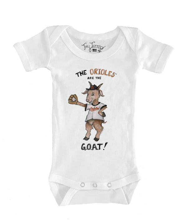 Baltimore Orioles Infant G.O.A.T! Short Sleeve Snapper