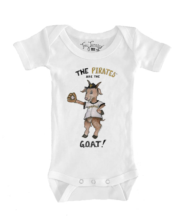 Pittsburgh Pirates Infant G.O.A.T! Short Sleeve Snapper