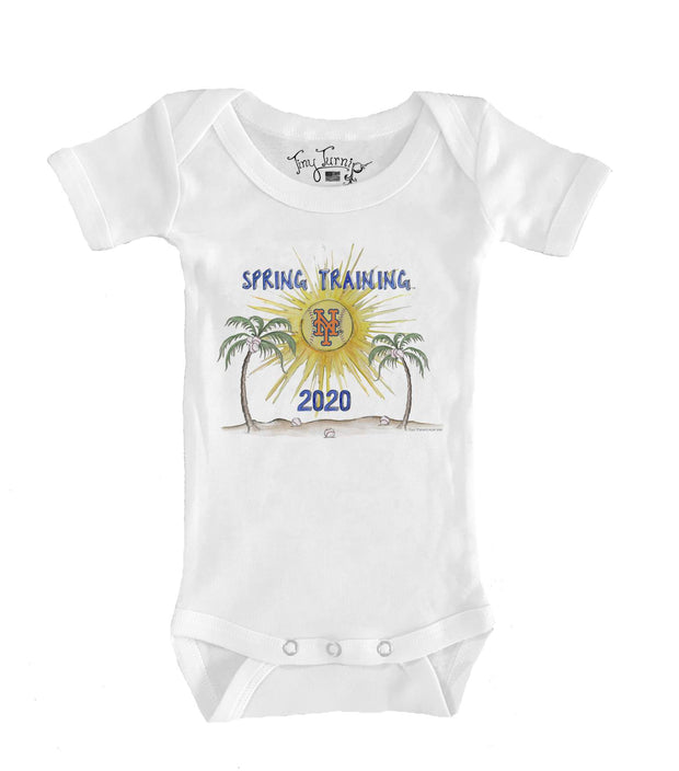 New York Mets Infant 2020 Spring Training Short Sleeve Snapper