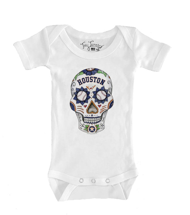 Houston Astros Infant Sugar Skull Short Sleeve Snapper
