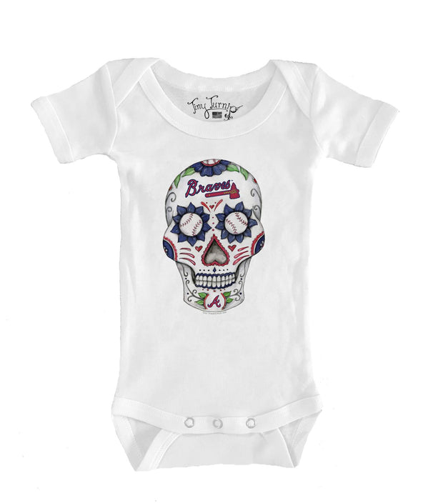 Atlanta Braves Infant Sugar Skull Short Sleeve Snapper