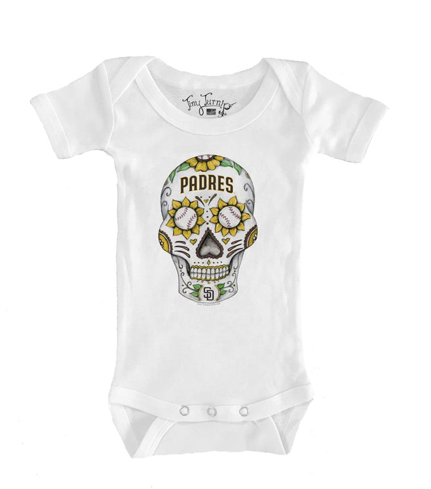 San Diego Padres Infant Sugar Skull Short Sleeve Snapper