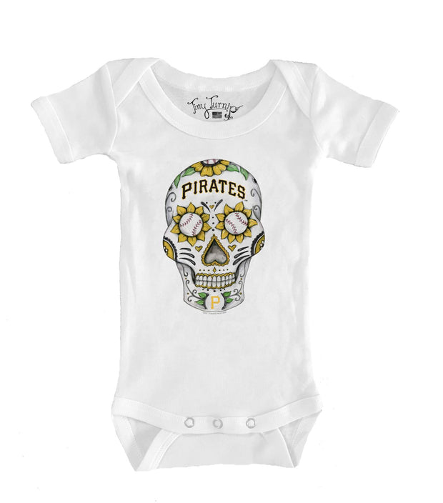Pittsburgh Pirates Infant Sugar Skull Short Sleeve Snapper