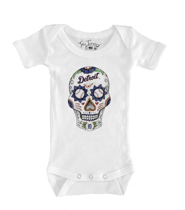 Detroit Tigers Infant Sugar Skull Short Sleeve Snapper