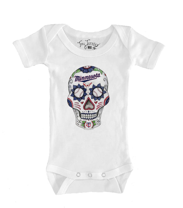 Minnesota Twins Infant Sugar Skull Short Sleeve Snapper