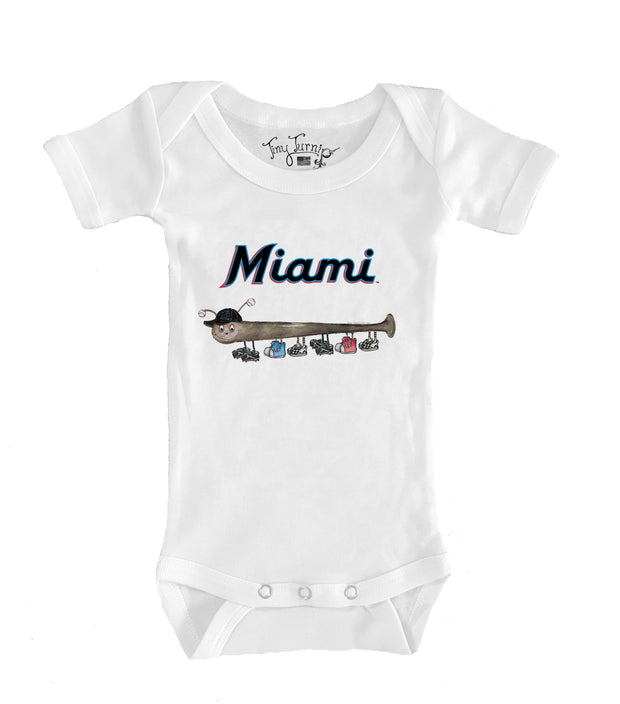 Miami Marlins Infant Batterpillar Short Sleeve Snapper