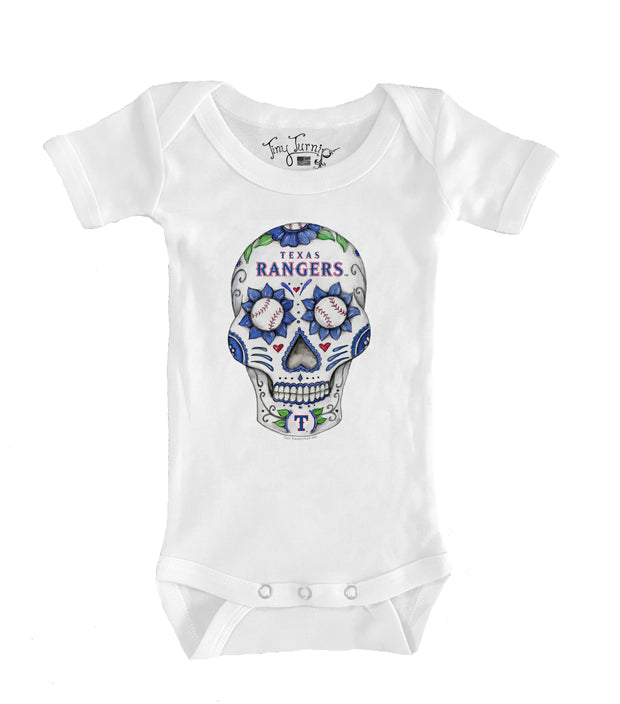 Texas Rangers Infant Sugar Skull Short Sleeve Snapper