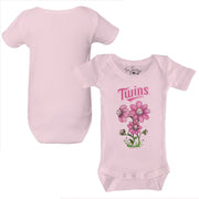 Minnesota Twins Bloomin' Baseball Infant Short Sleeve Snapper