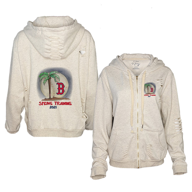 Boston Red Sox Spring Training 2021 Rocky Oatmeal Zip Up Hoodie