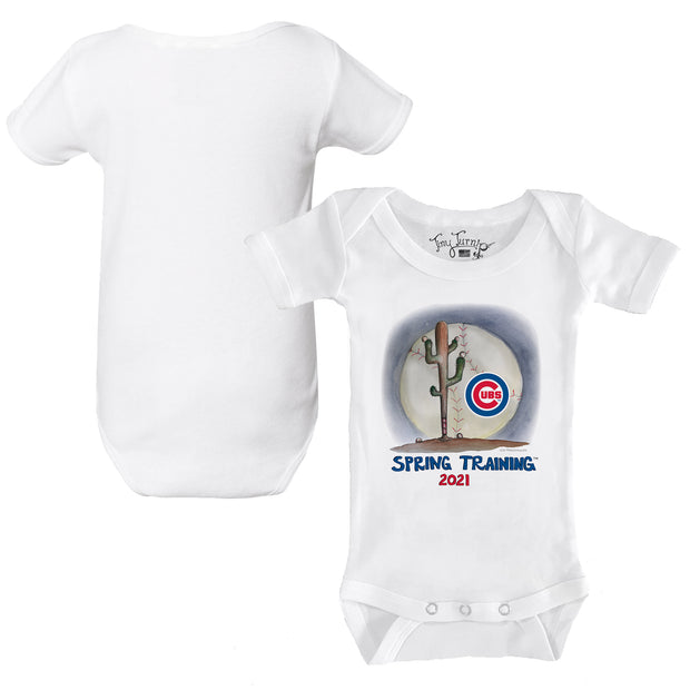 Chicago Cubs Infant 2021 Spring Training Short Sleeve Snapper