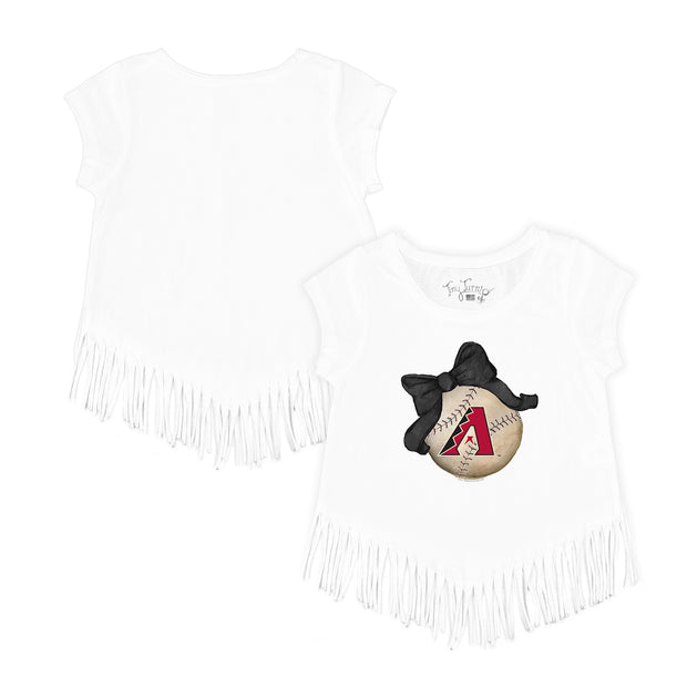 Arizona Diamondbacks Baseball Bow Fringe Tee