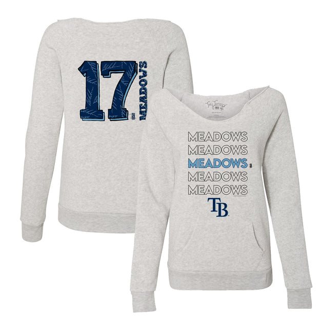 Tampa Bay Rays Austin Meadows Stacked Women's Slouchy Sweatshirt