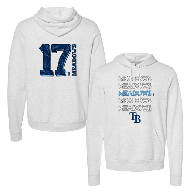 Tampa Bay Rays Austin Meadows Stacked Unisex Pullover Hoodie