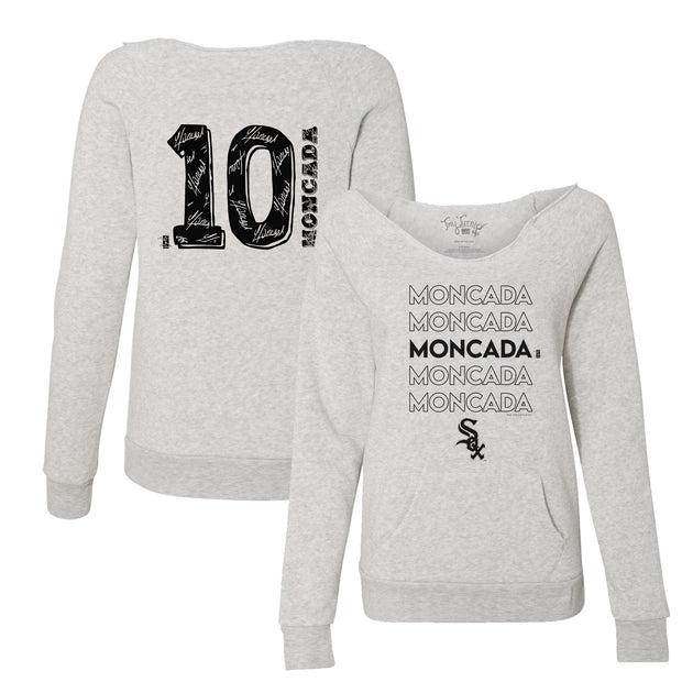 Chicago White Sox Yoan Moncada Stacked Women's Slouchy Sweatshirt