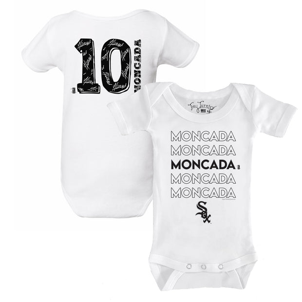 Chicago White Sox Yoan Moncada Stacked Short Sleeve Snapper