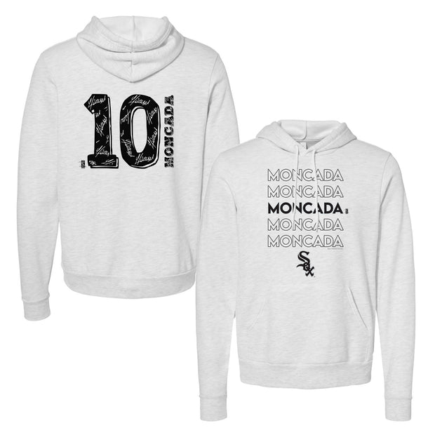 Chicago White Sox Yoan Moncada Stacked Unisex Pullover Hoodie
