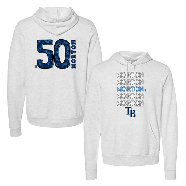 Tampa Bay Rays Charlie Morton Stacked Unisex Pullover Hoodie