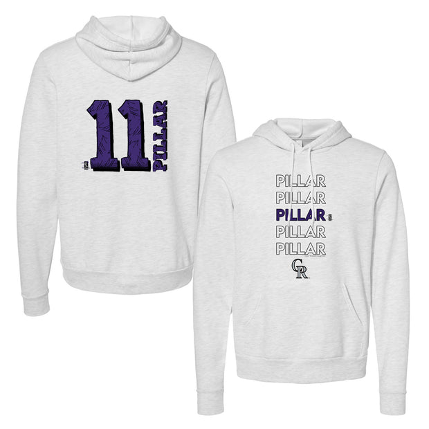 Colorado Rockies Kevin Pillar Stacked Unisex Pullover Hoodie