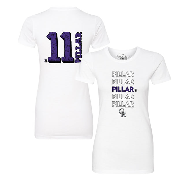 Colorado Rockies Kevin Pillar Stacked Tee Shirt