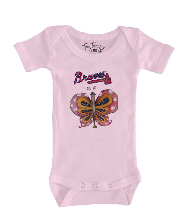 Atlanta Braves Infant Batterfly Short Sleeve Snapper