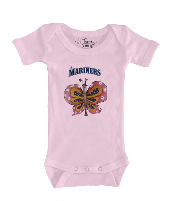 Seattle Mariners Infant Batterfly Short Sleeve Snapper