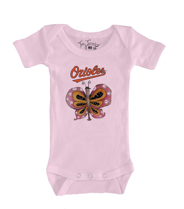 Baltimore Orioles Infant Batterfly Short Sleeve Snapper
