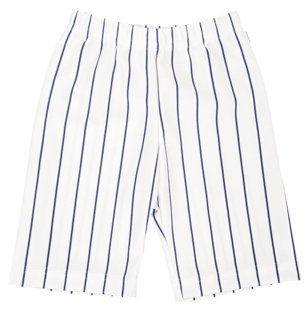 Tiny Turnip Navy Blue Kids' Pinstripe Shorts