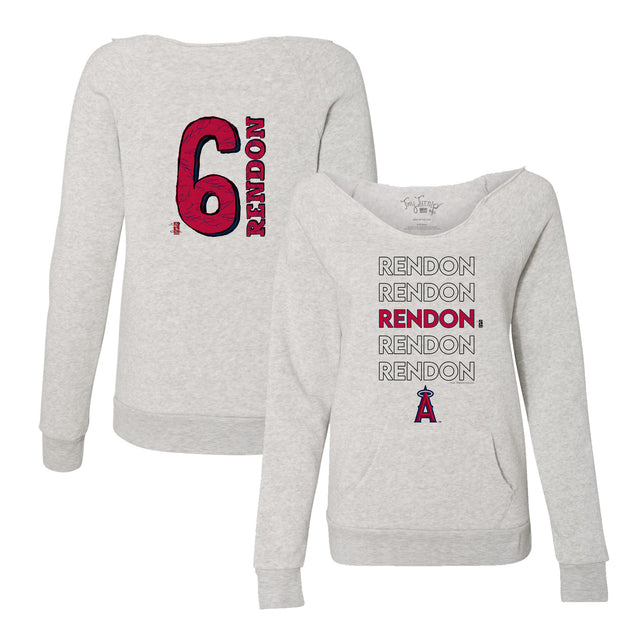 Los Angeles Angels Anthony Rendon Stacked Women's Slouchy Sweatshirt