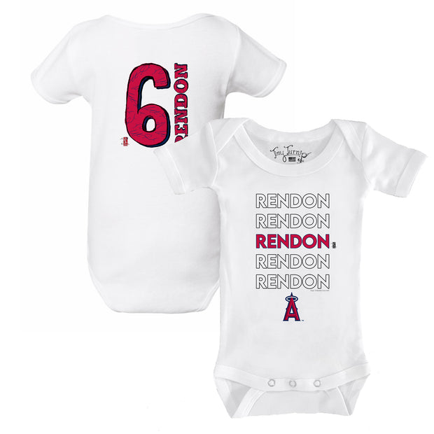 Los Angeles Angels Anthony Rendon Stacked Short Sleeve Snapper