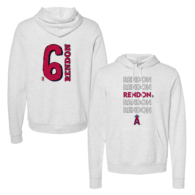 Los Angeles Angels Anthony Rendon Stacked Unisex Pullover Hoodie