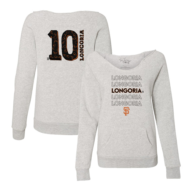 San Francisco Giants Evan Longoria Stacked Women's Slouchy Sweatshirt