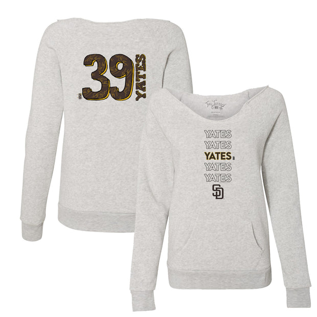 San Diego Padres Kirby Yates Stacked Women's Slouchy Sweatshirt