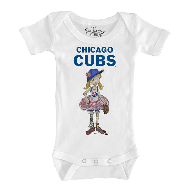 Chicago Cubs Infant Babes Short Sleeve Snapper