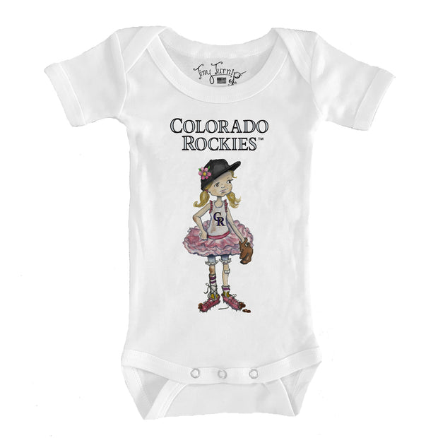 Colorado Rockies Infant Babes Short Sleeve Snapper