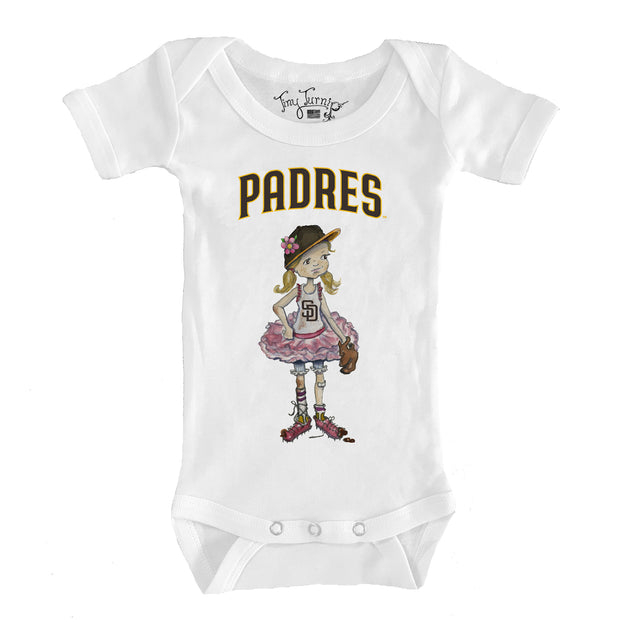 San Diego Padres Infant Babes Short Sleeve Snapper