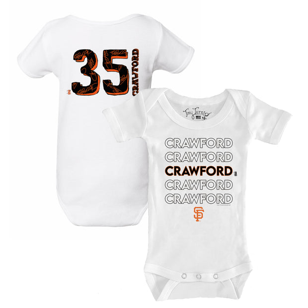 San Francisco Giants Brandon Crawford Stacked Short Sleeve Snapper
