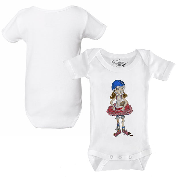 Tiny Turnip Football Babes Infant Short Sleeve Snapper