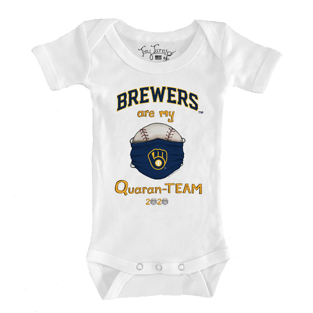 Milwaukee Brewers Infant QuaranTEAM Short Sleeve Snapper