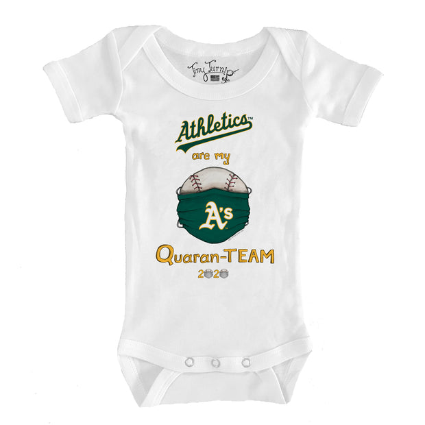 Oakland Athletics Infant QuaranTEAM Short Sleeve Snapper
