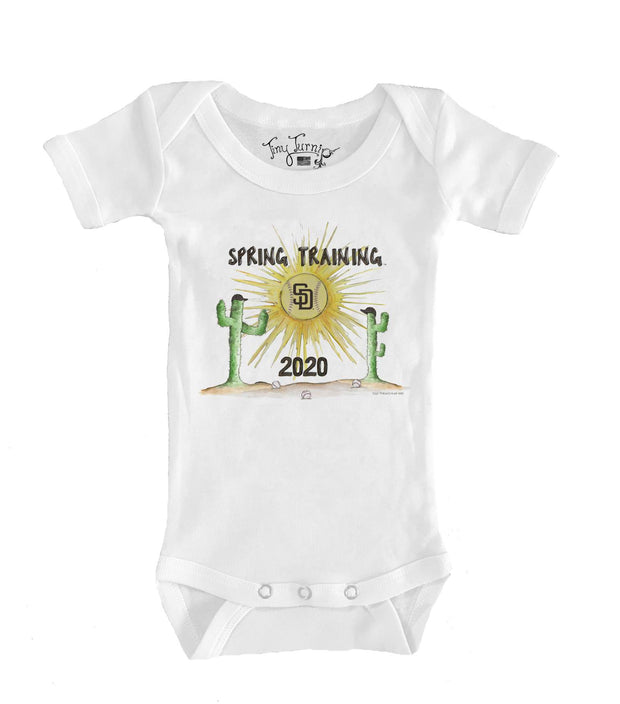 San Diego Padres Infant 2020 Spring Training Short Sleeve Snapper